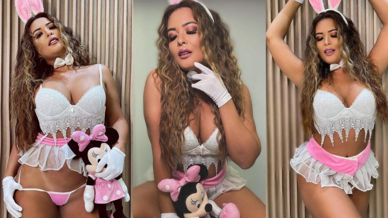 Fãs de Geisy Arruda resgatam foto da musa com fantasia vermelha em ensaio arrebatador