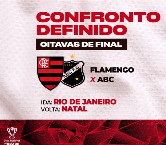 Flamengo enfrenta o ABC nas oitavas de final da Copa do Brasil
