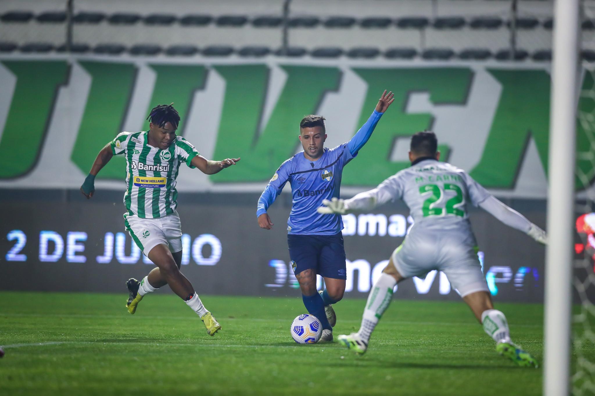 Grêmio é superado pelo Juventude, no Brasileirão