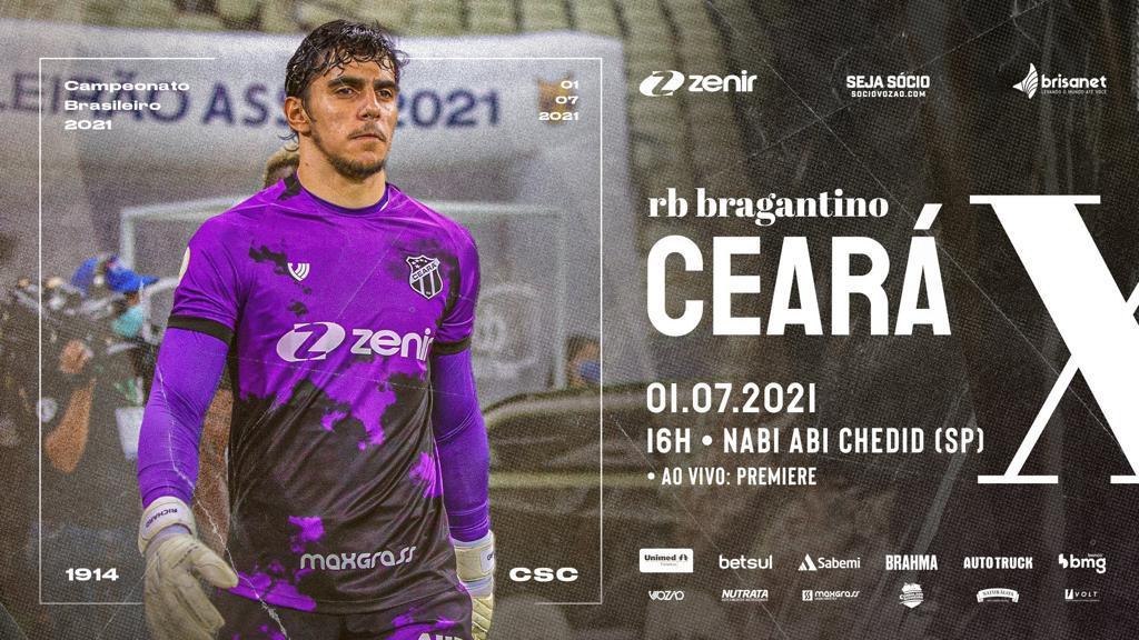 Série A: Em Bragança Paulista, Ceará encara o RB Bragantino, pela oitava rodada da competição