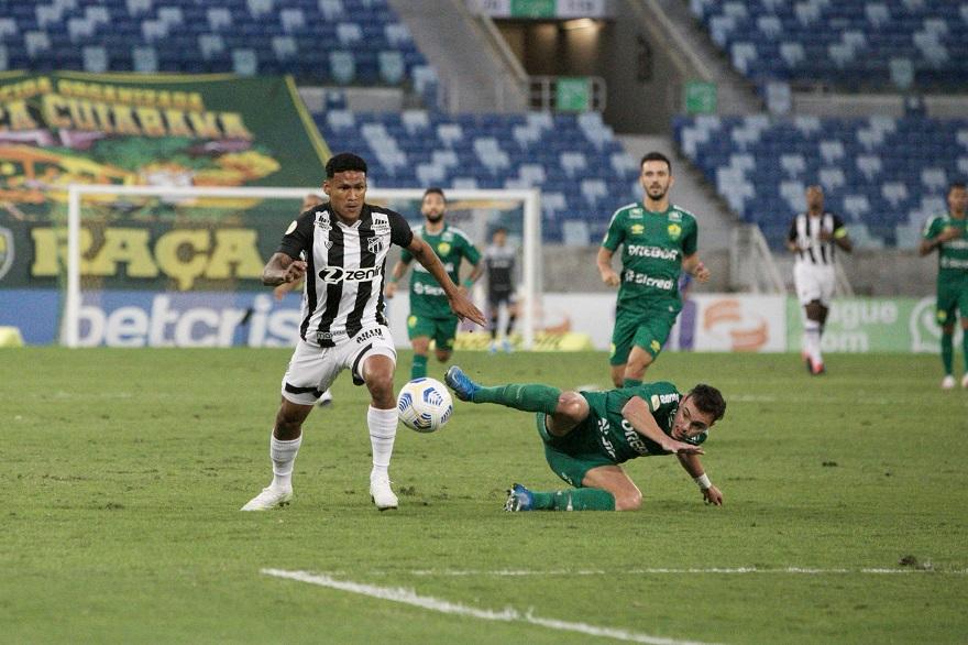 Fora de casa, Ceará empata com o Cuiabá, pela 11ª rodada da Série A