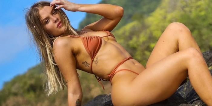 Luísa Sonza posa com look mínimo e acaba mostrando detalhe íntimo: