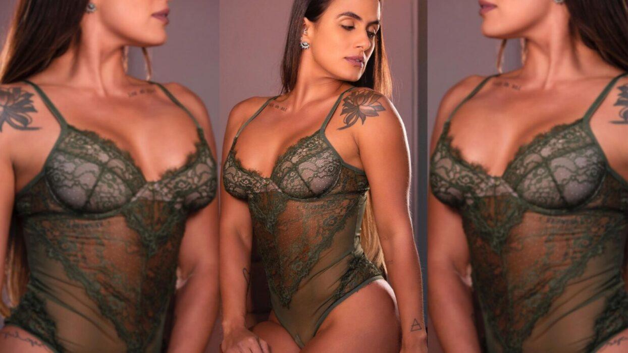 Carol Peixinho esquenta o Instagram ao fazer ensaio de lingerie transparente