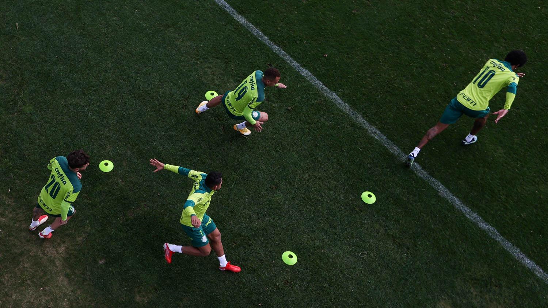 Palmeiras faz atividades técnicas e táticas na visando a decisão pelas quartas da Libertadores