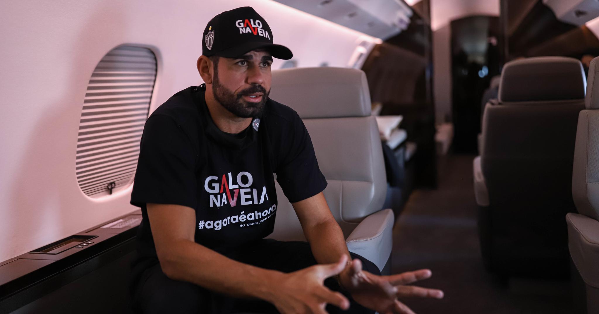 Diego Costa desembarca em BH