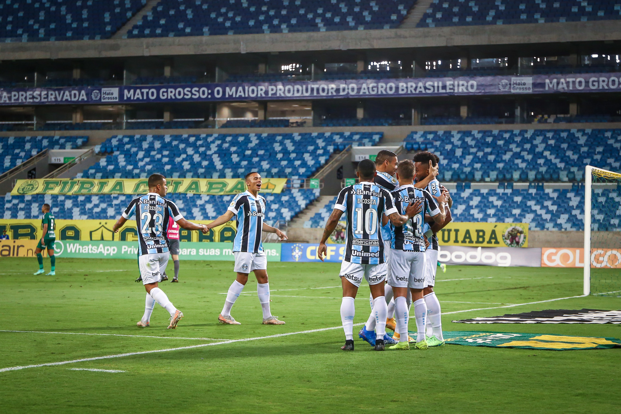 Grêmio vence Cuiabá, em jogo adiado, válido pela 5ª rodada do Brasileirão