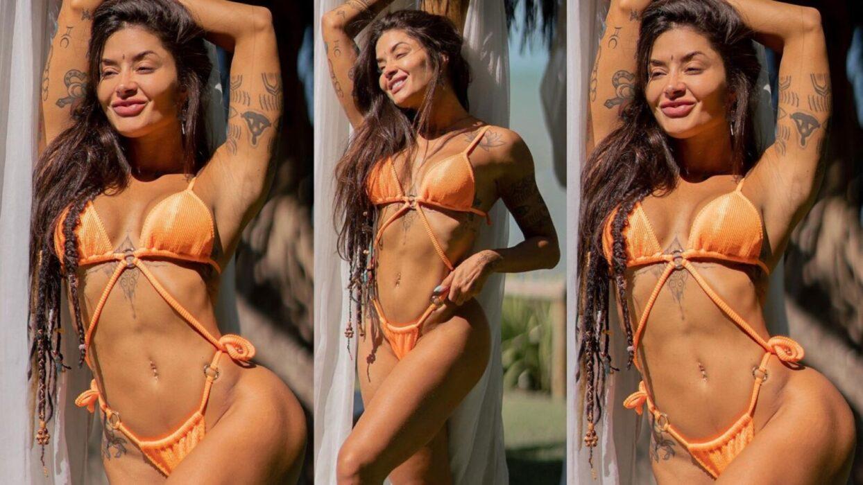 Aline Riscado posta vídeo praiano e mostra toda sua beleza corporal