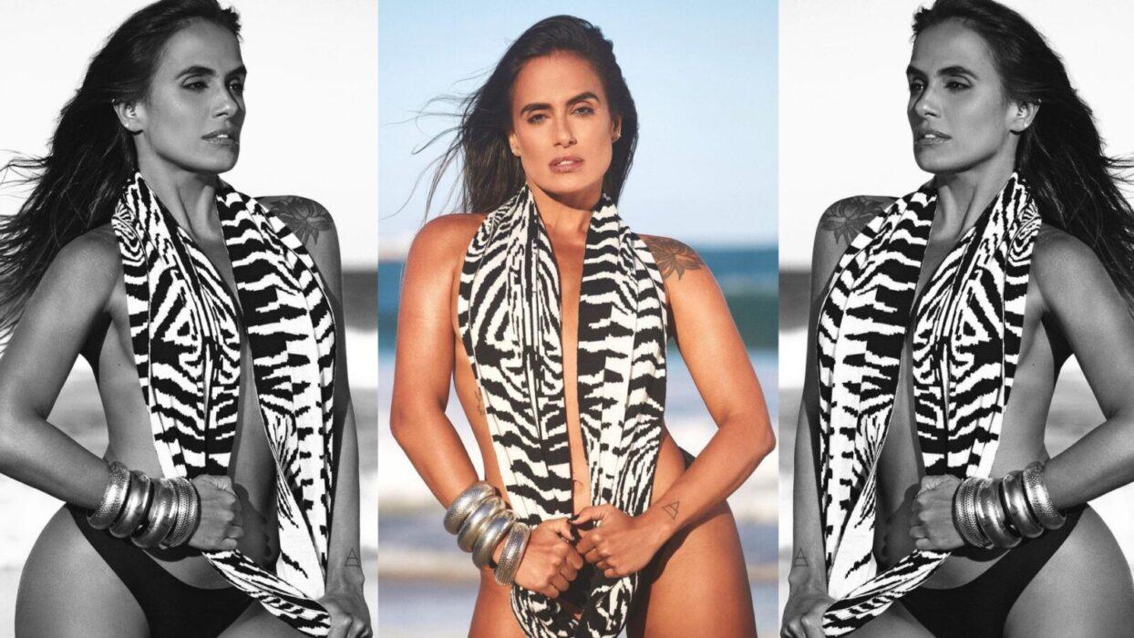 Carol Peixinho esbanja curvas avantajadas ao curtir dia na praia: