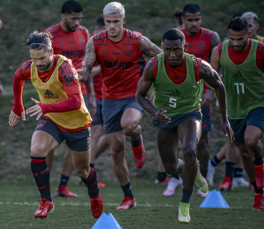 Flamengo segue a preparação para a partida contra o América-MG
