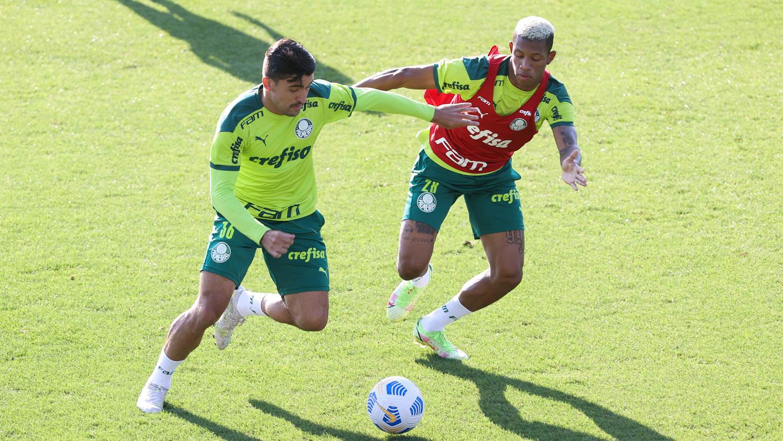 Danilo avança na transição física, e Palmeiras finaliza preparação para duelo com Sport