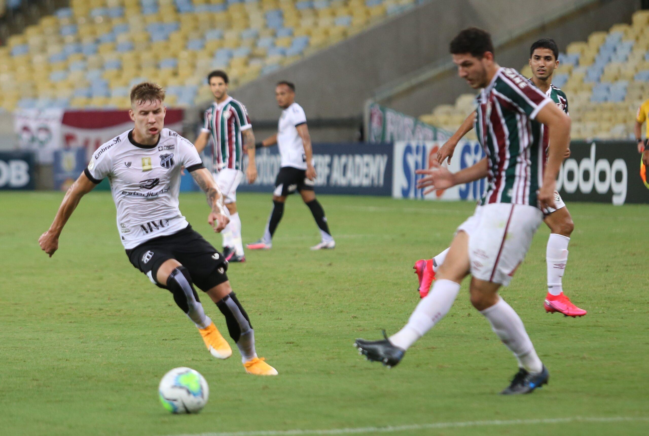 No Maracanã, Charles e Vina marcam e Ceará empata contra o Fluminense em 2 a 2