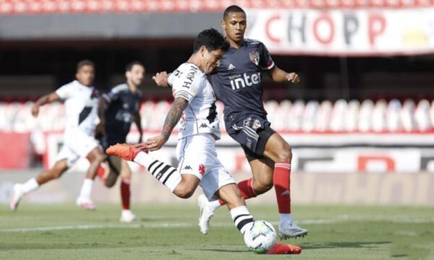 São Paulo joga mal e fica somente no empate de 1 a 1 com Vasco