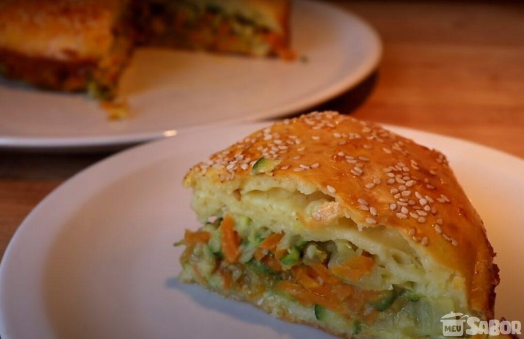 Você nunca comeu uma torta magnífica igual a essa! Torta de legumes!