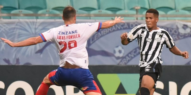 Santos perde para o Bahia em Salvador