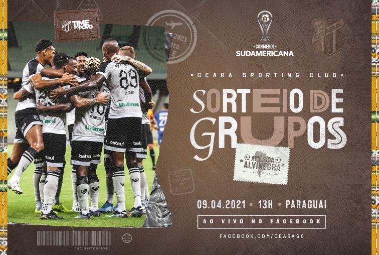 Ceará transmitirá o sorteio da fase de grupos da Copa Sul-Americana em sua página no Facebook