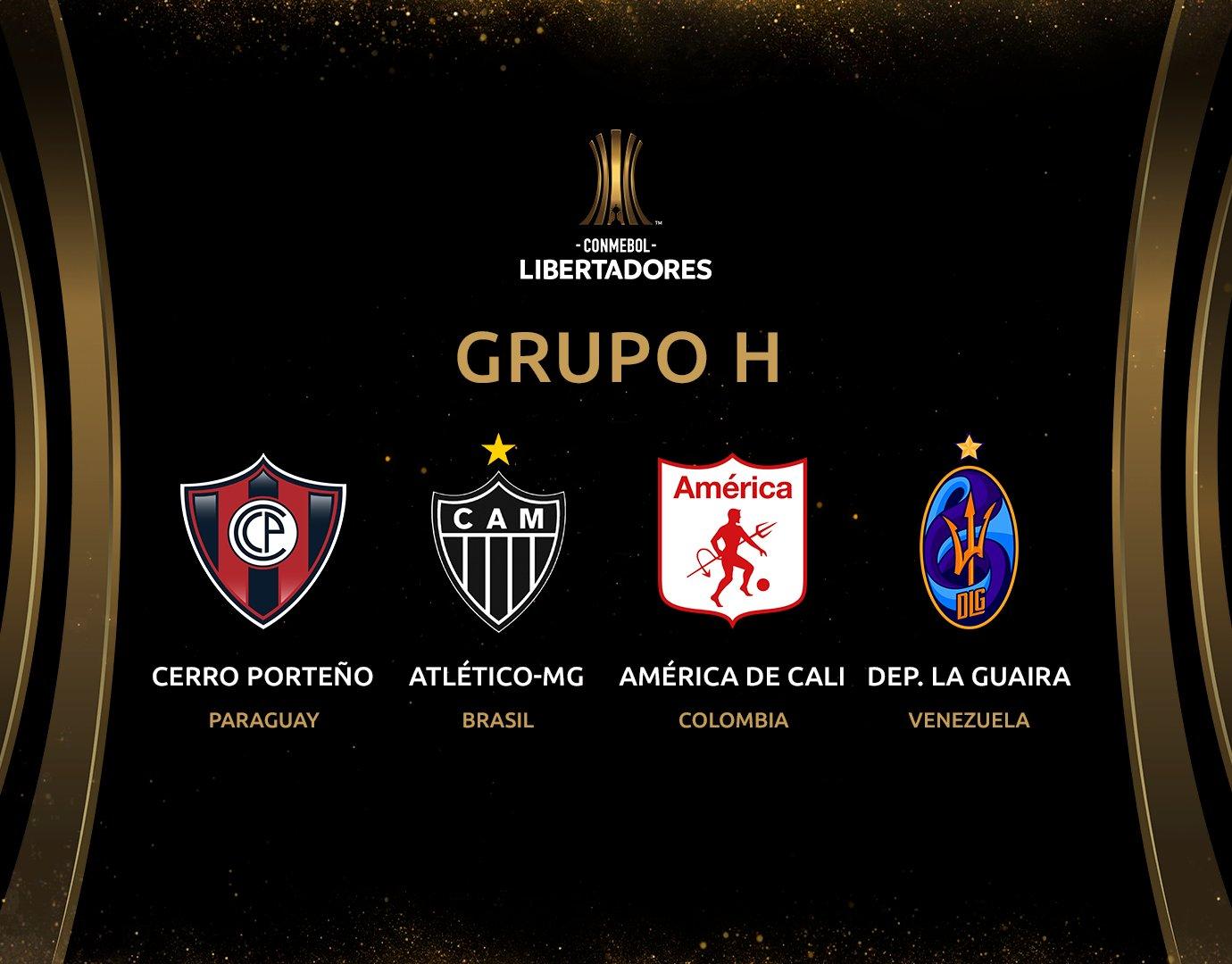 Atlético MG divulga grupo de adversários pela Libertadores