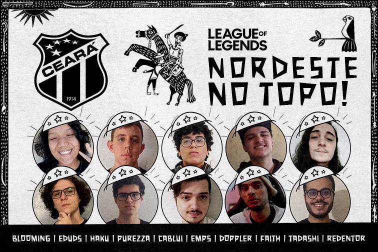 Com top 1 da SoloQ, Ceará anuncia line de League of Legends