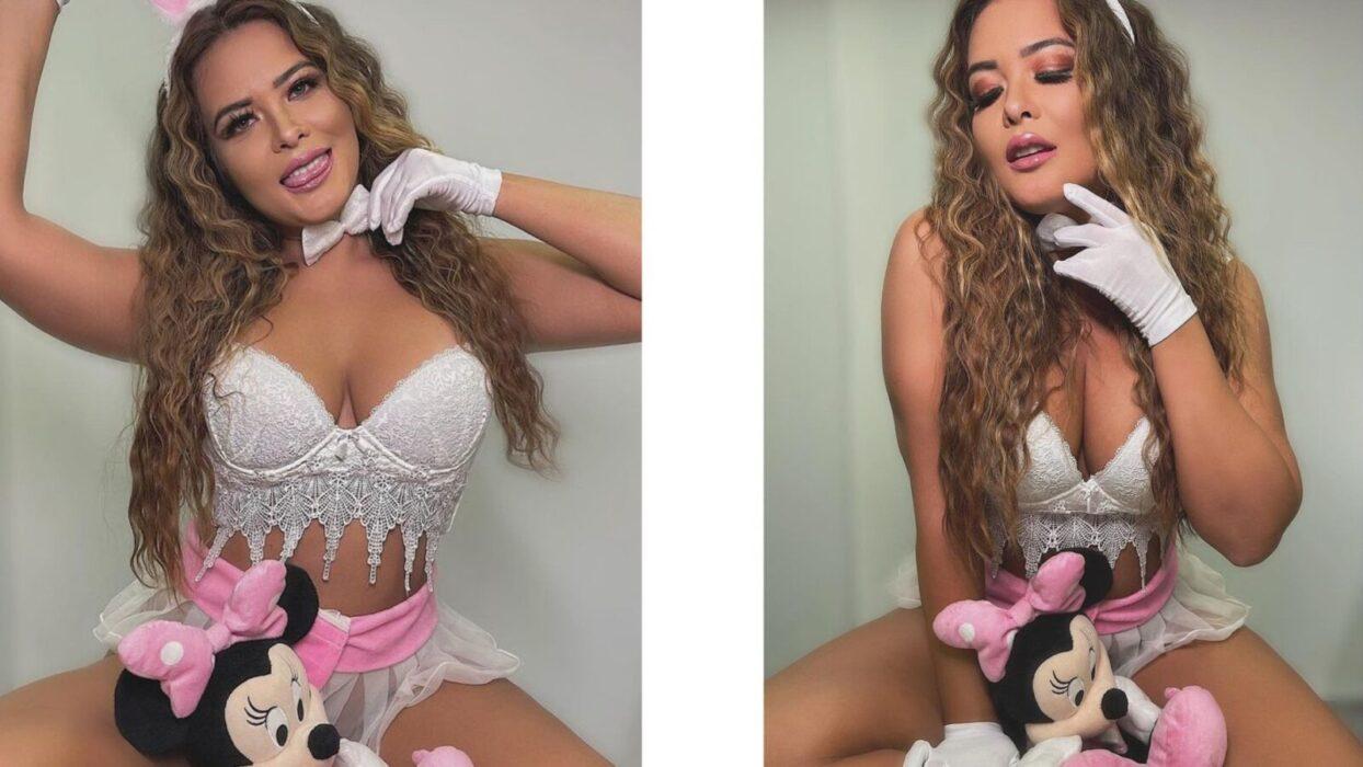 Geisy Arruda surge de modelito sexy para gravar novo podcast erótico: