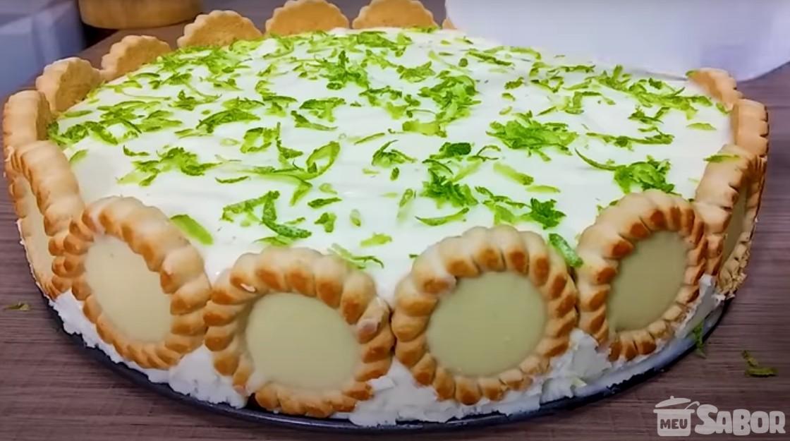 Torta alemã de limão, um sobremesa bem cremosa e saborosa! Experimente!