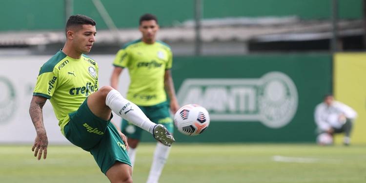 Palmeiras realiza treino tático antes antes de viajar para o Equador
