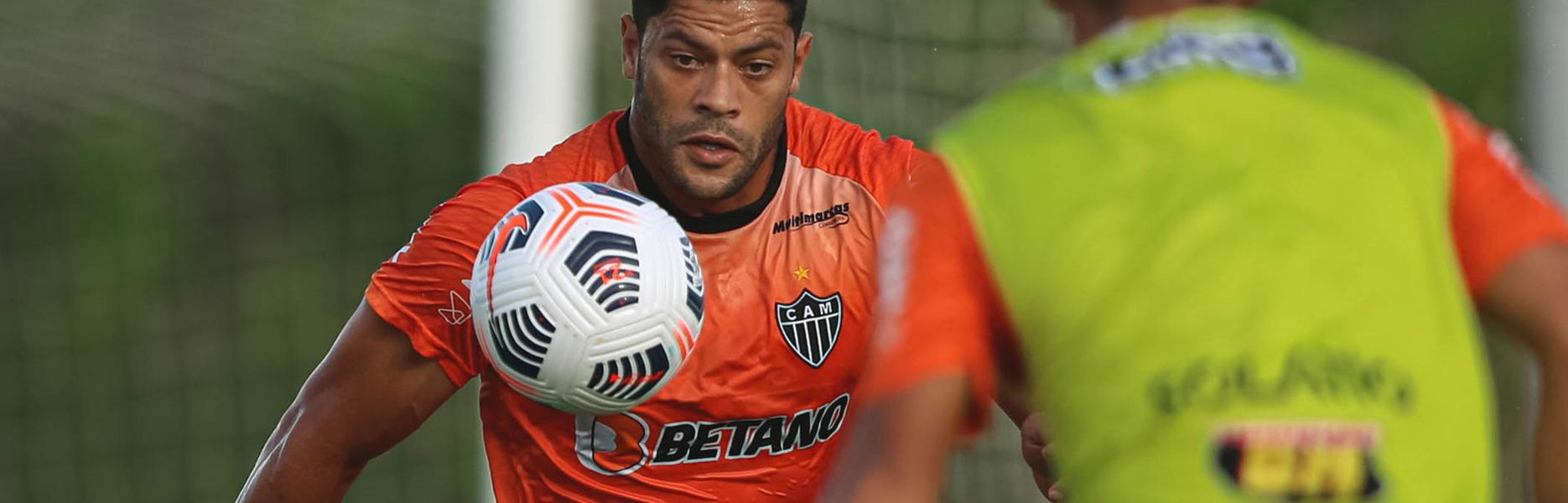 Atlético MG segue em treino em busca da classificação