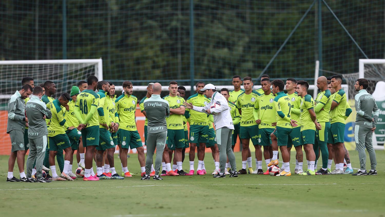 Palmeiras faz treino tático na Academia em preparação para quartas de final do Paulista