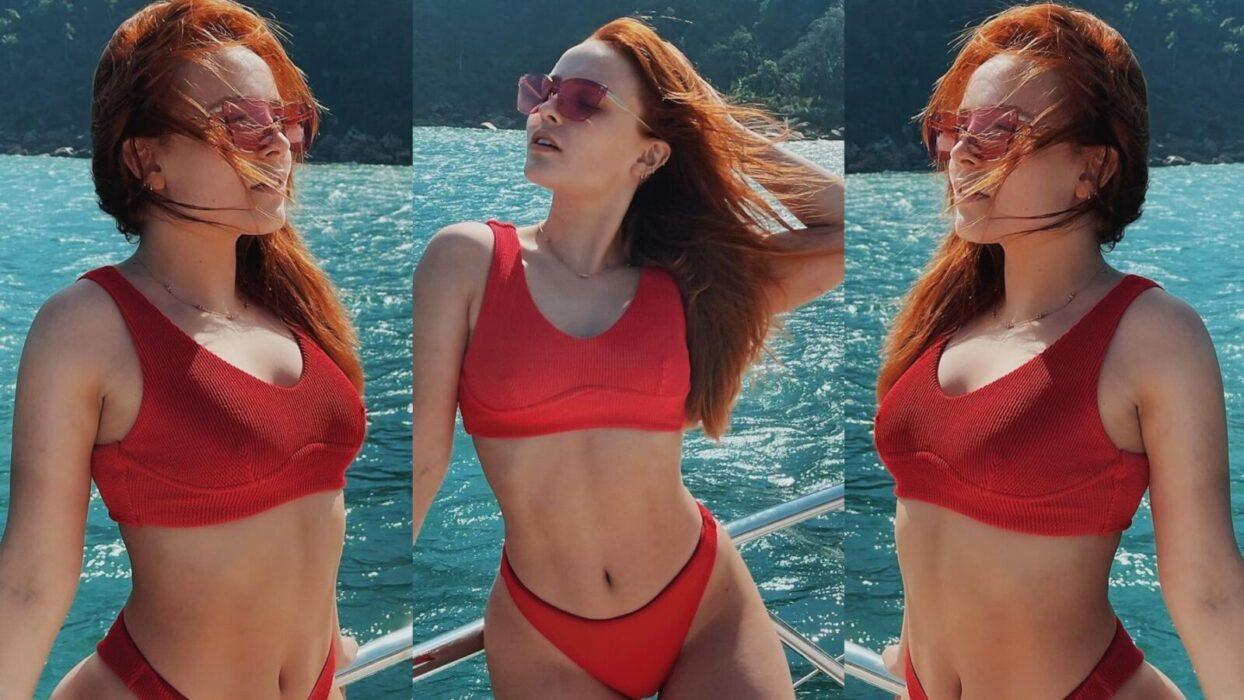 Larissa Manoela celebra o Dia do Oceano com cliques pra lá de sensuais em barco de luxo